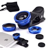 #8: Safeseed Universal 3 in 1 Mobile Phone Lens Kit Set (Macro + Fish Eye + Wide Angle) Compatible with Apple Iphone, Ipad, Tablet, Samsung, HTC - Blue