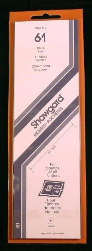 Showgard Strip Style Black Stamp Mounts Size 61