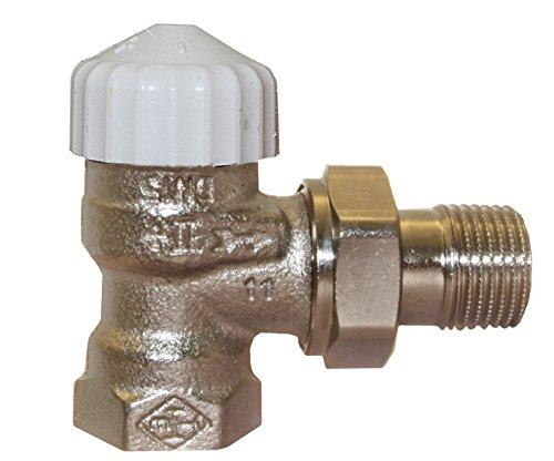 TA Heimeier Thermostat Unterteil V-exakt II rotguss vernickelt, Eck 1/2 Zoll, kvs 0,86, 3711-02.000