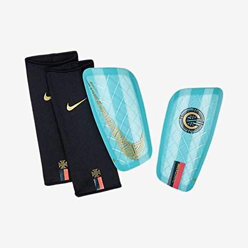 Nike CR7 Mercurial Lite Schienbeinschoner, Clear Emerald/Black/Gold, M