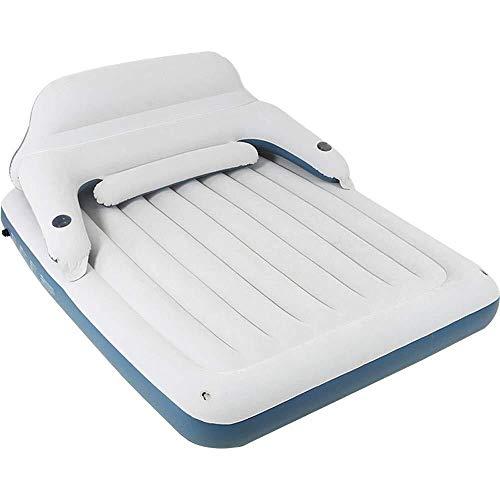 Königin-Größen-angehobene Luftmatratze - beste aufblasbare Luftmatratze mit eingebauter Pumpe - erhöhte angehobene Luftmatratze Steppdeckenoberseite mit aufblasbarem Bett der Rückenlehne 191 * 99 * 22 -