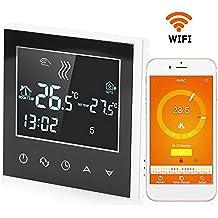 FTVOGUE Termostato Digital, Termostato de calefacción Wireless programable WiFi con Pantalla táctil LCD Control de