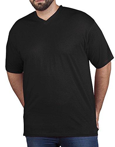 Premium V-Neck T-Shirt Plus Size Herren, 4XL, Schwarz