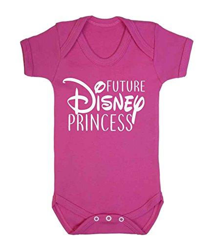 """Baby-Body für Mädchen, englischsprachige Aufschrift """"Future Disney Princess"""", Geschenkidee, dunkles Pink rosa blassrosa 0-3 Monate"""