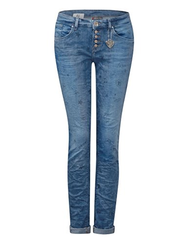 Street One Damen Slim Jeans 371162 Crissi Blau (Fancy Printed Blue Wash 11261)