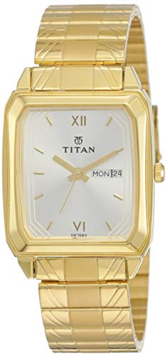 Titan Analog White Dial Unisex Watch - NE15812488YM04