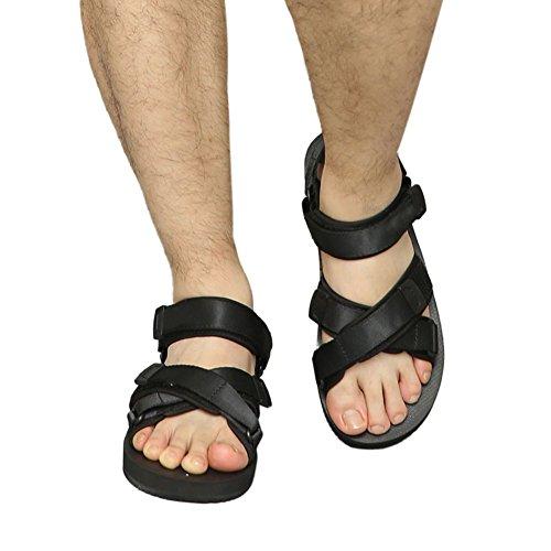 Haodasi Männer Sandalen Gehen Mode Komfort Sommer Freizeit Strandschuhe Hausschuhe Sport Schuhe Schwarz
