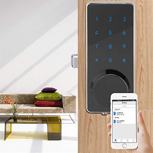 YJF-ZWS Fingerabdrucksperre, intelligentes Türschloss mit aktiviertem Bluetooth Anti-Peep-Code Auto Lock Funktioniert mit iOS und Android für das Home Office Garage Apartment (Auto Kinder Eingefroren)