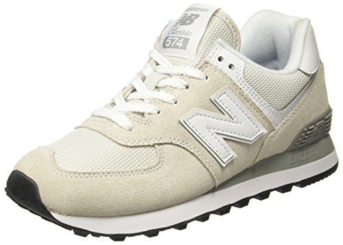 New Balance 574v2 Core, Scarpa da Tennis Donna, Bianco (White), 37.5 EU