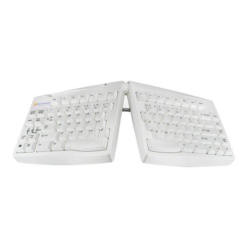 Goldtouch USB oder PS2 Spanisch Tastatur Layout - Weiß - Spanisch Ps2-tastatur