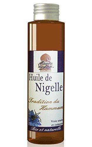 Huile de Nigelle traditionnelle du Maroc 100% Naturelle 100ml - Apaise et Soigne la...