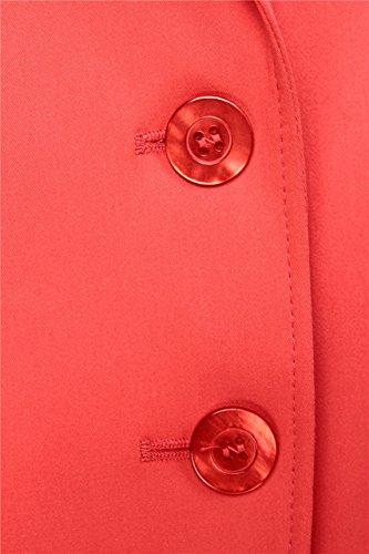 Basler Damen Blazer MODERN ART, Farbe: Gruen Rot