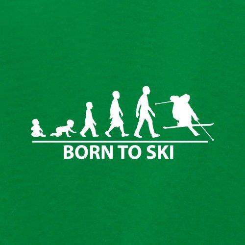 Born To Ski - Damen T-Shirt - 14 Farben Grün
