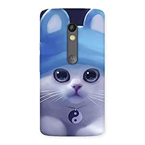 Delighted Tie Chi Cat Multicolor Back Case Cover for Moto X Play