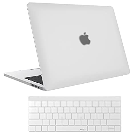 MacBook Pro 13 Case 2016 A1706/A1708, ProCase Hard Case Cover Shell and Keyboard Skin Cover for Apple Macbook Pro 13 Inch (2016 Release) with/without Touch Bar and Touch ID -Frost Clear