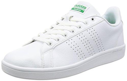 adidas Herren Cloudfoam Advantage Clean Sneakers Weiß (Footwear White/footwear White/green)