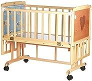 Mee Mee Baby Wooden Cot (Large - Wooden)