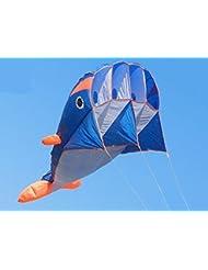 Happy whale - Wal Monofil Parafoil Drachen , ohne Zusammenbau in Walfischform mit einem langen Tail Geschenkidee Spielzeug