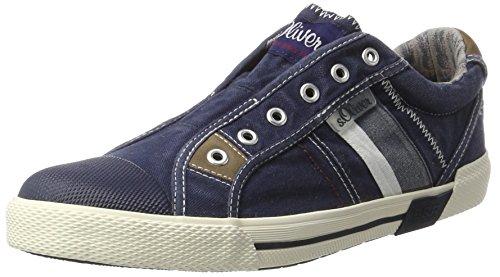 s.Oliver 14600, Sneakers Basses Homme Bleu (NAVY 805)