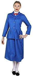 I Love Fancy Dress. ilfd4043l Ladies mágico para Disfraces de Nanny (Tamaño Grande), diseño Victoriano