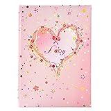 Goldbuch Babytagebuch, Pink Heart, 21 x 28 cm, 44 illustrierte Seiten mit Pergamin-Trennblättern, Kunstdruck mit Goldprägung und Relief, Rosa, 11315