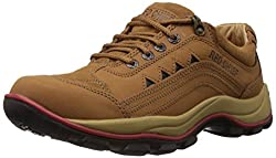 Redchief Mens Rust Leather Trekking and Hiking Footwear Shoes - 9 UK (RC2015 022)
