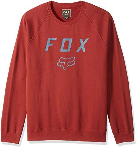 Fox Herren Legacy Crew Fleece Sweatshirt, Bordeaux, Groß -