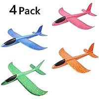 AMOYER Juego de Planeador de Juguete para niños, 4 Unidades de avión de Espuma para Deportes al Aire Libre, Juguete Volador para niños como Regalo