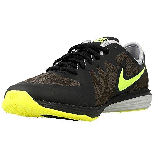 Nike - W Dual Fusion Tr 3 Print, Scarpe da ginnastica Donna Nero (Negro (Black / Volt-Dark Grey-Wolf Grey))
