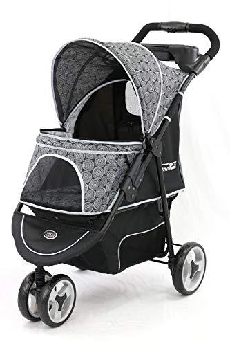 InnoPet Allure Hundebuggy Hundewagen Pet-Stroller Kinderwagen für Hund Katze Onyx grau schwarz weiß