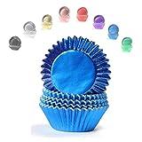 Miss Bakery's House Mini-Muffinförmchen Folie - Ø 32 mm x 20 mm - Blau - 120 Stück