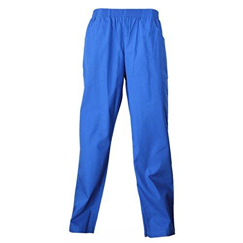 Misemiya - pantaloni unisex vita elastica uniforme di lavoro clinica ospedale pulizia veterinario igiene ospitalitÀ - ref.8312 - l, blue royal