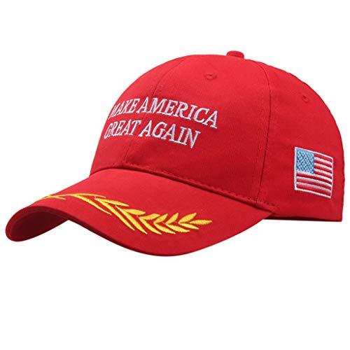 Sonnenhut strandhut, Machen Sie Amerika wieder groß Hut verstellbare Baseball Mütze 2er Pack Slouch Baseball