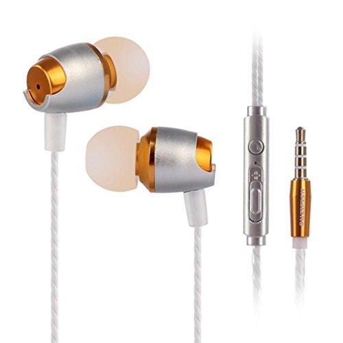 Mamum In-Ear-3,5-mm-Stereo-Kopfhörer, kabelgesteuert mit Mikrofon und Super Bass Einheitsgröße rot Besten Bass-kopfhörer