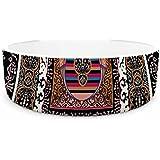 "KESS InHouse Victoria Krupp ""Tibet Mandala"" Black White Illustration Pet Bowl, 7"" Diameter"