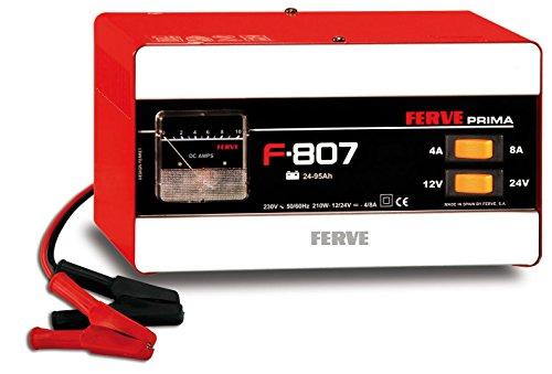 FERVE F-807 Cargador de baterías de Plomo ácido