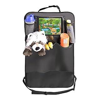 Premium Rückenlehnenschutz (1 Stück), Große Taschen und iPad-/Tablet-Fach, Auto Rücksitz-Organizer für Kinder, Autositz-Schoner wasserdicht, Kick-Matten-Schutz in universeller Passform