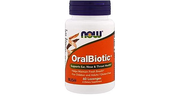 Buy Now Foods OralBiotic Blis K12, Pack of 2(60 count each=120 count