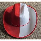 2ffcfb02c8e87 Lote Conjunto de 12 Piezas - Sombrero de Vaquero de Fieltro Rojo y Blanco (