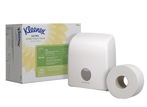KLEENEX Ultra Toilet Tissue Dispenser Starter Pack (product code 7994) 1 dispenser and 1 jumbo toilet tissue roll