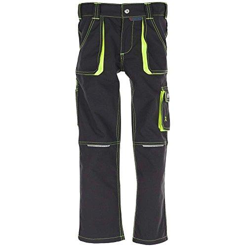 Planam Bundhose Junior, größe 122 / 128, anthrazit / gelb / mehrfarbig, 6110122 (Shops Junior Bekleidung)