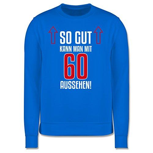 Geburtstag - So gut kann man mit 60 aussehen - Herren Premium Pullover Himmelblau