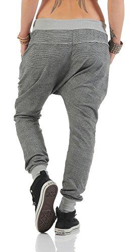 Damen freizeit Boyfriend Hose Jogginghose Sporthose (499) Grau