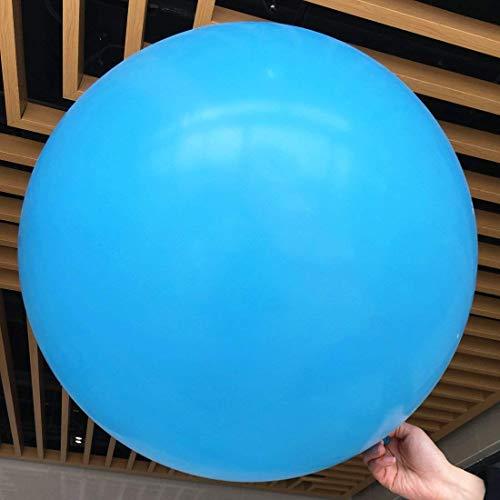5 globos grandes - Globos redondos de 36 pulgadas - Globos extra grandes y gruesos Globos de látex gigantes reutilizables para bodas, sesiones de fotos y festivales Decoraciones navideñas (azul)