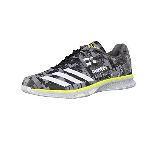 adidas Counterblast Falcon, Chaussures de Handball Homme, Gris (Granit/Ftwbla/Amasol), 38 EU