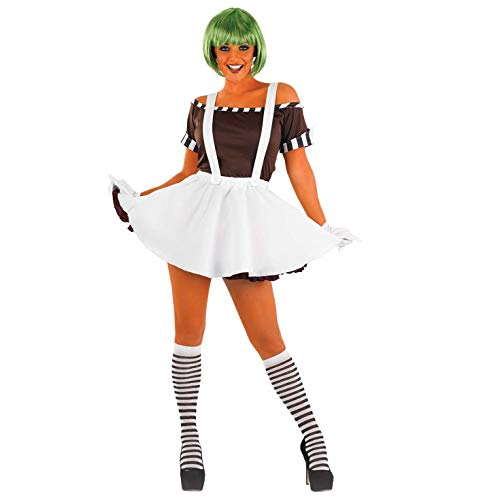 Oompa Loompa Willy Wonka Kostüm - Fun Shack Damen Costume Kostüm, Womens
