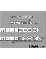 PEGATINAS STICKERS MOTO MOMO DESIGN R100 AUFKLEBER DECALS AUTOCOLLANTS ADESIVI (BLANCO/WHITE)