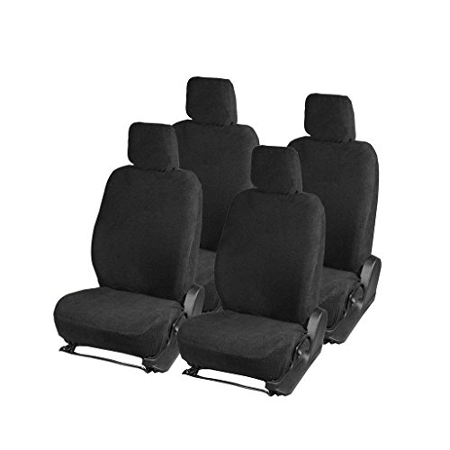 GS- Premium Quality Black Towel Car Seat Cover for Volkswagen Polo