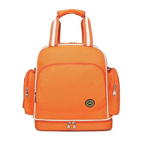Chilsuessy Schwangerschaft Tasche Pflegetasche Windeltasche Babytasche Wickeltasche Multifunktionale Mama Handtasche mit Befestigung für Kinderwagen, Rot Orange