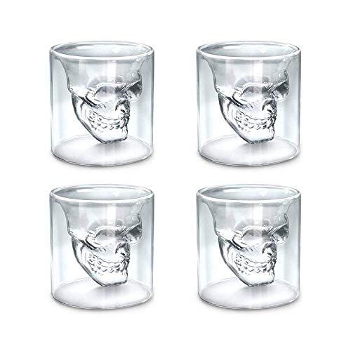 t - Glas-Becher Crystal Drinking Set - lustig für Männer kreative Whisky-Gläser doppelwandig kühlen Bier Tasse für Wein Cocktail Wodka ()